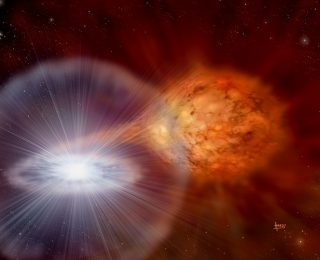 A Helium-Powered Supernova