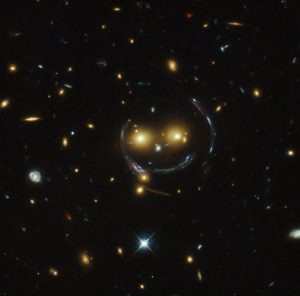 A strongly lensed system of galaxies