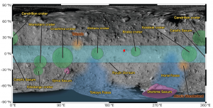 Map of named features on Ryugu