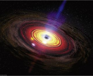 Building Planets Around a Black Hole