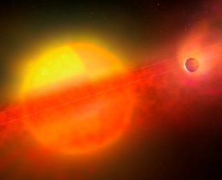 Hot planets hiding under a shroud of dust and gas