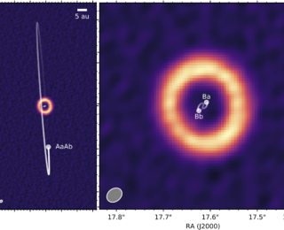 A protoplanetary disk on its side