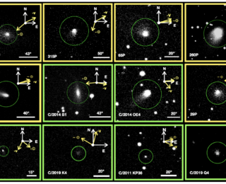 Investigation of Coma Morphology of Long and Short Period Comets