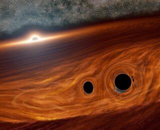Did we just see two black holes merge?