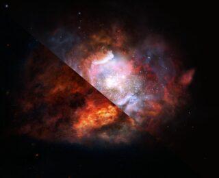 Distant, Dusty Galaxy Hiding in the Dark