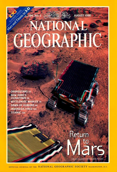 Front cover of National Geographic magazine