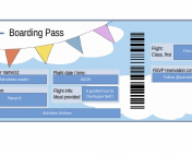 The boarding pass template was taken from templatelab.com. It was edited by the photoshop matser, Sabina Sagynbayeva.