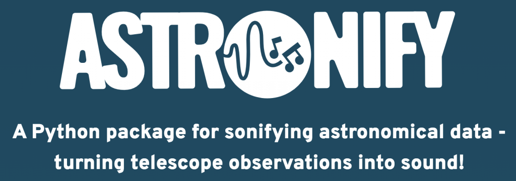 Astronify. A python package for sonifying astronomical data  -- turning telescope observations into sound!