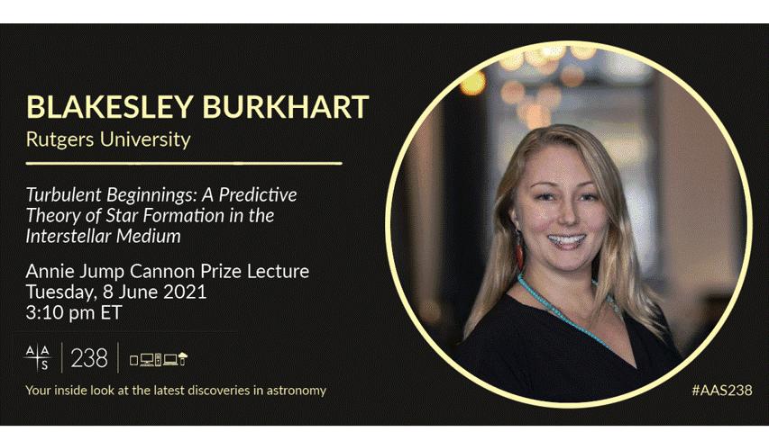 AAS flyer advertising Blakesley Burkhart's plenary talk