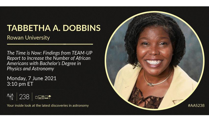 AAS flyer advertising Tabbetha Dobbins' plenary talk